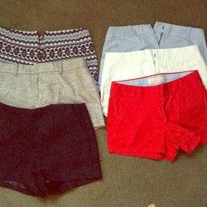6 pair of shorts